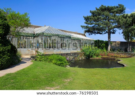 Greenhouse, jardin des plantes of Nantes (France)