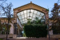 Greenhouse of the park de la Ciutadella. Barcellona. Spain.