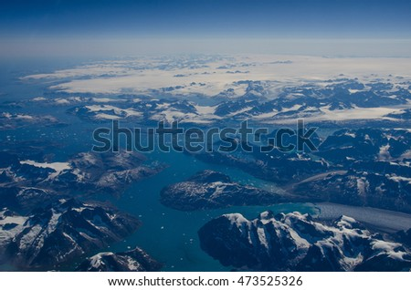 Greenland from above #473525326