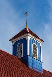 Greenland. Sisimiut. Cupola on Bethel Church from 1775.