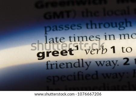 greet greet concept. #1076667206