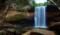 Greeter Falls in South Cumberland State Park in Tennessee
