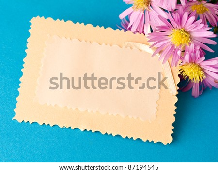 Greeting card and flowers