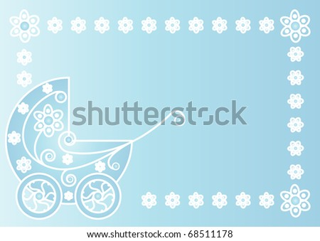 Greeting card for newborns.