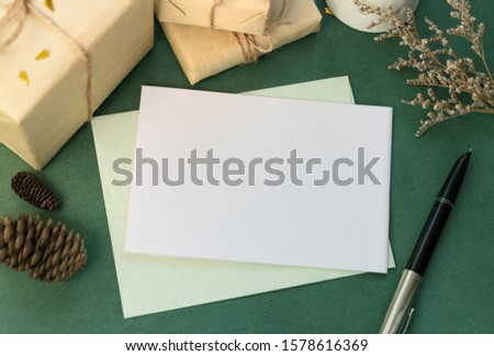 Greeting card invitation invitation materials