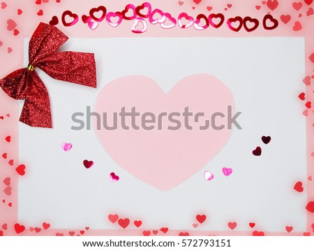 Greeting Card Love Valentine S Day With Hearts Background Ez Canvas
