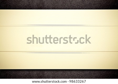 Greeting card on the black leather background