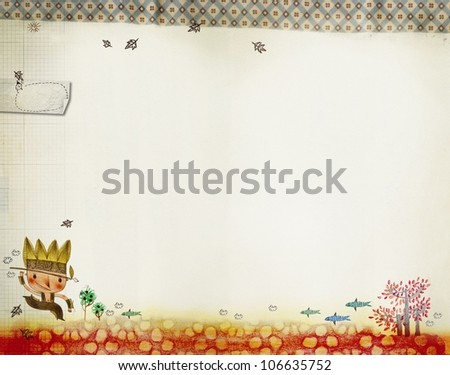 Greeting card with indian boy