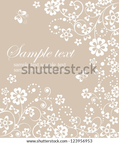 Greeting floral background. Raster copy of vector copy