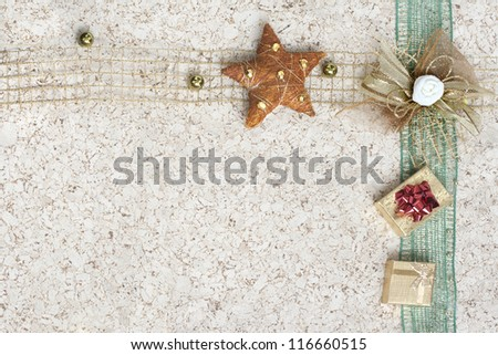 greeting white card with decoration