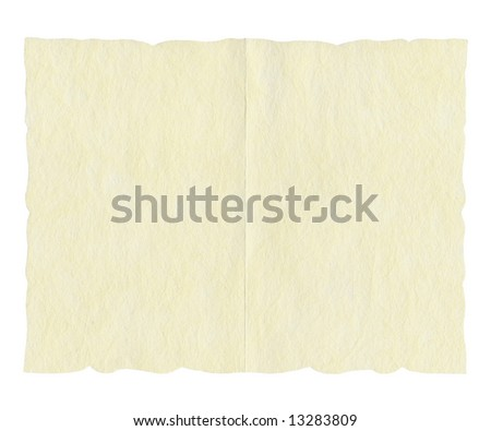 Greetings Card On Rice Paper Or Parchment For Wedding Marriage Invitation Or Restaurant Menu