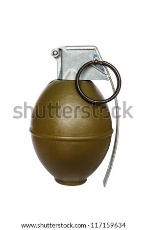 Grenade frag explosive m26 on white background - stock photo