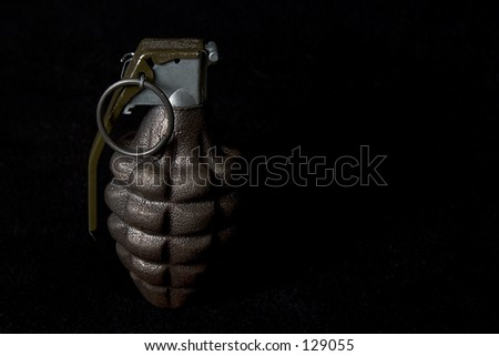Grenade, horizontal with black background
