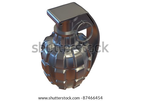 grenade on white background