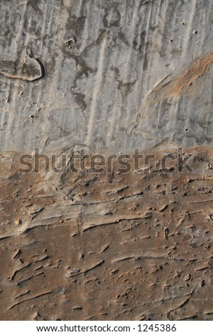 Grey and brown stone surface