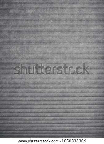 Grey background of stripe shaded of curtain. #1050338306