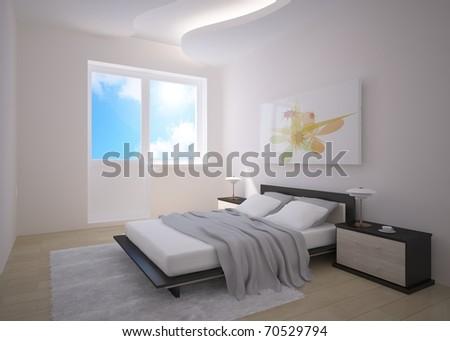 grey bedroom composition #70529794