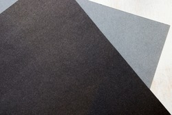 Grey, black and white papers background and texture, pattern of paper, geometric figures