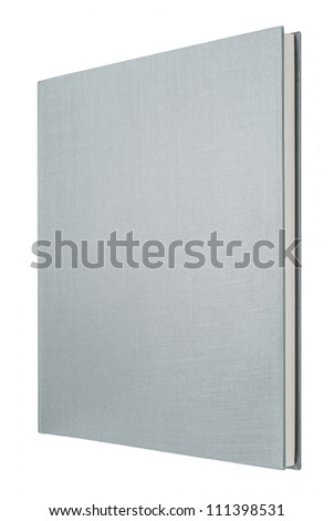 Grey book isolated on white - stock photo