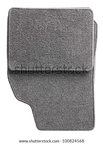 Grey car mat set isolated on white