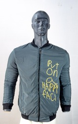 grey casual jacket for men , winter clothes