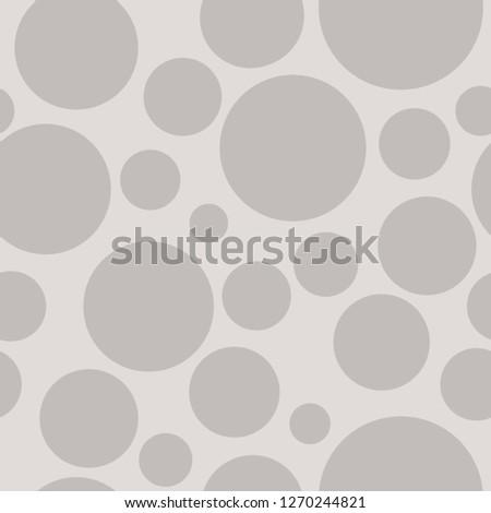 Grey circles on grey background, seamless pattern.
