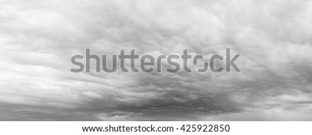 Grey clouds in sky