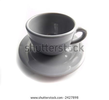 Grey coffee cup