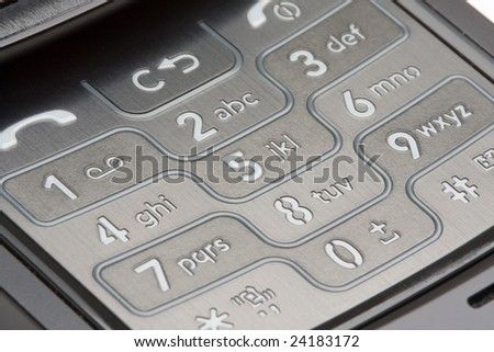 Grey Detailed Cell Phone Number Pad Macro