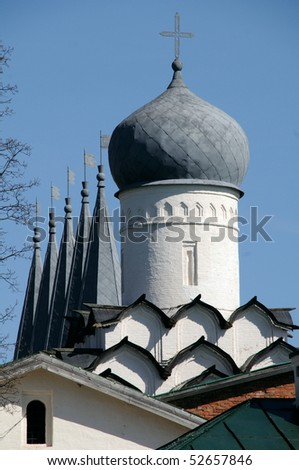Grey domes of Russia - stock photo