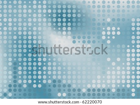 Grey dots futuristic background. Raster version. Vector version is in my gallery.