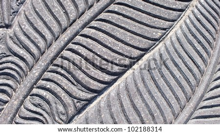 Grey feather detail stone background #102188314