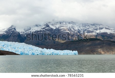 Grey glacier in Patagonia, Chile, South America