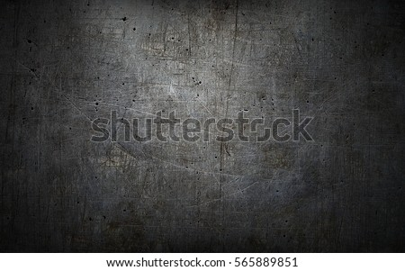Grey grunge metal textured wall background #565889851