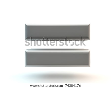 grey letter isolated on white Stock photo ©