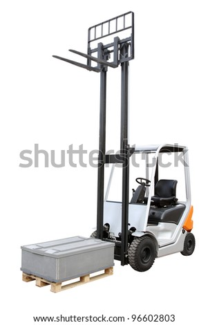 Grey loader isolated on a white background