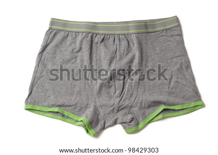 grey male underwear isolated on the white background