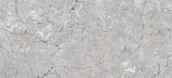 Grey Marble Texture Background With Black Curly Veins, Smooth Natural Breccia Marble Tiles, It Can Be Used For Interior-Exterior Home Decoration And Ceramic Tile Surface, Wallpaper.