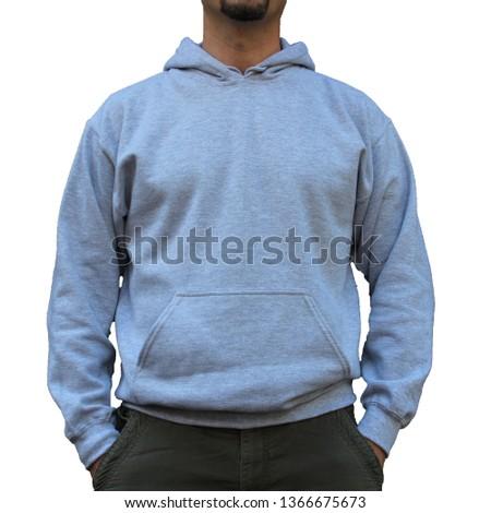 Grey Melange Mens Sweatshirt Hoodie