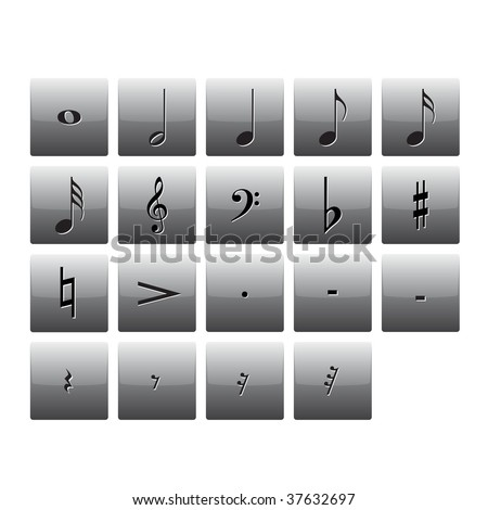 images of music signs. music notes buttons signs