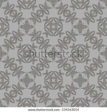 grey ornamental seamless line...