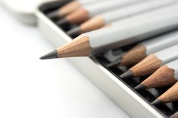 Grey pencil in box