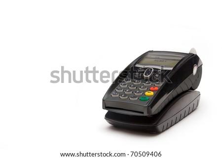 Grey Portable Credit Card Terminal on Base