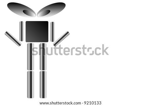 grey robot