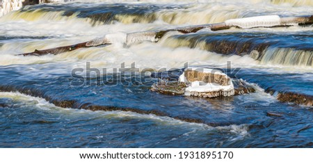 Grey Sauble Conservation Area Sauble Falls Bruce Peninsula Ontario Canada in Canadian Winter Stock photo ©