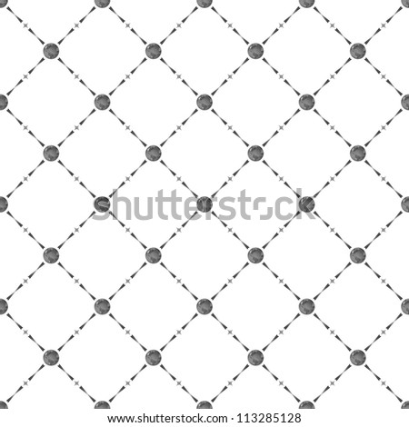 Grey seamless pattern with earth symbol, bitmap copy.