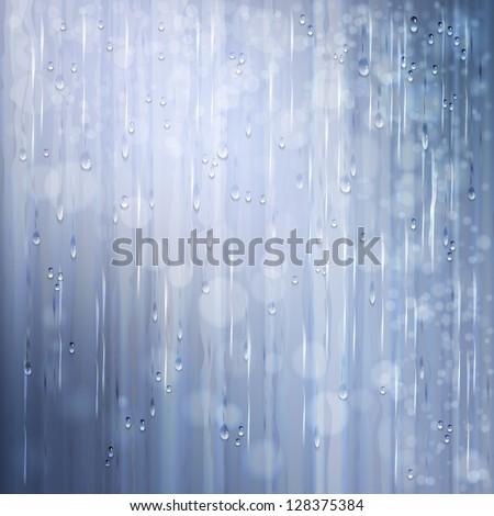 grey shiny rain abstract water