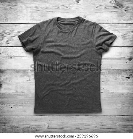 Grey shirt over wood background #259196696