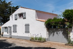 grey shutter house in Vendée on the island of Noirmoutier in France