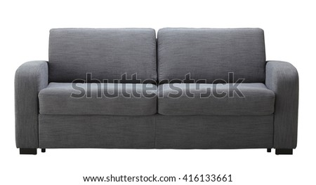Grey sofa isolated on white include clipping path #416133661